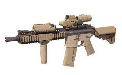 Full Size Mk 18 Assault Rifle Free Paper Model Download