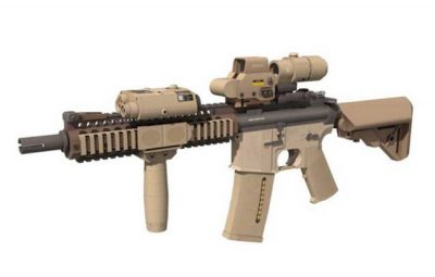 Full Size Mk 18 Assault Rifle Free Paper Model Download
