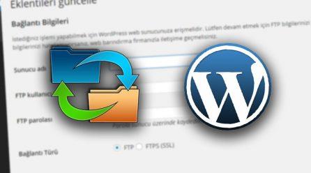 """WordPress """"Bir üst dizin sunucu tarafından yazılabilir mi?"""" Hatası Çözümü"""