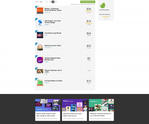 Envato  January Free Files of the Month ( Envato Aylık Ücretsiz İçerikleri )