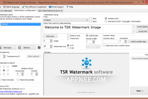 TSR WATERMARK IMAGE – SIMPLE AND QUICK TEXT/IMAGE WATERMARK BATCH ADDER
